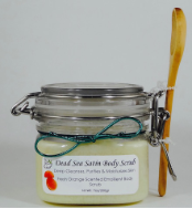 Satin Fresh Orange Dead Sea Moisturizing Face & Body Scrub